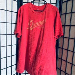 Danner boot logo red short sleeve t-shirt sz 2XL